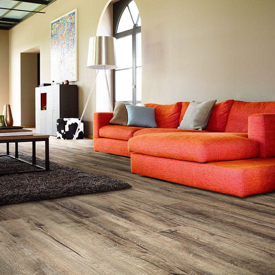 Vinyl floor tiles wood effect
